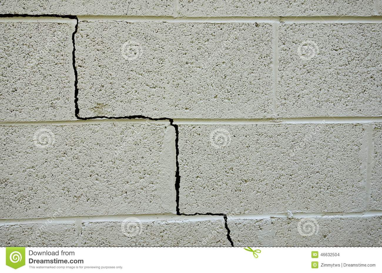 Foundation crack stock photo image of structure for Cinder block house construction