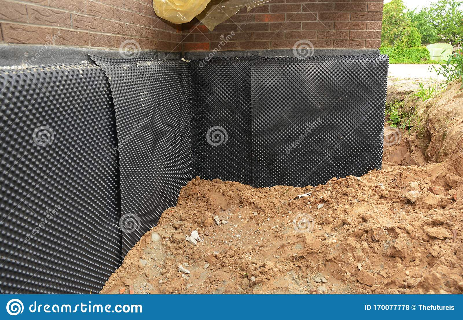 Foundation Foam Insulation With Bitumen Waterproofing Damp Proofing On The House Foundation Wall Stock Photo Image Of House Passive 170077778
