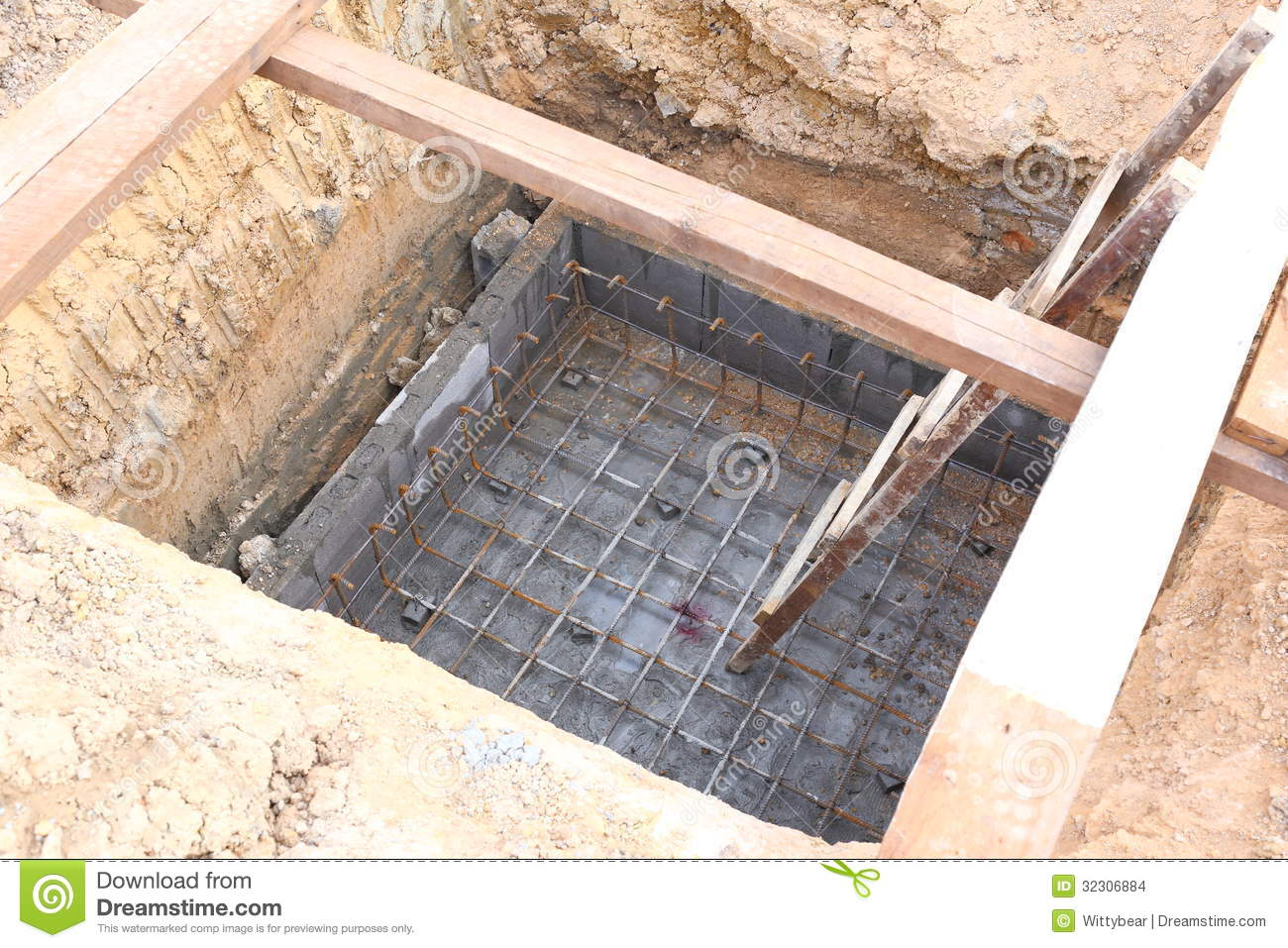 Foundation For Home Building Stock Images Image 32306884
