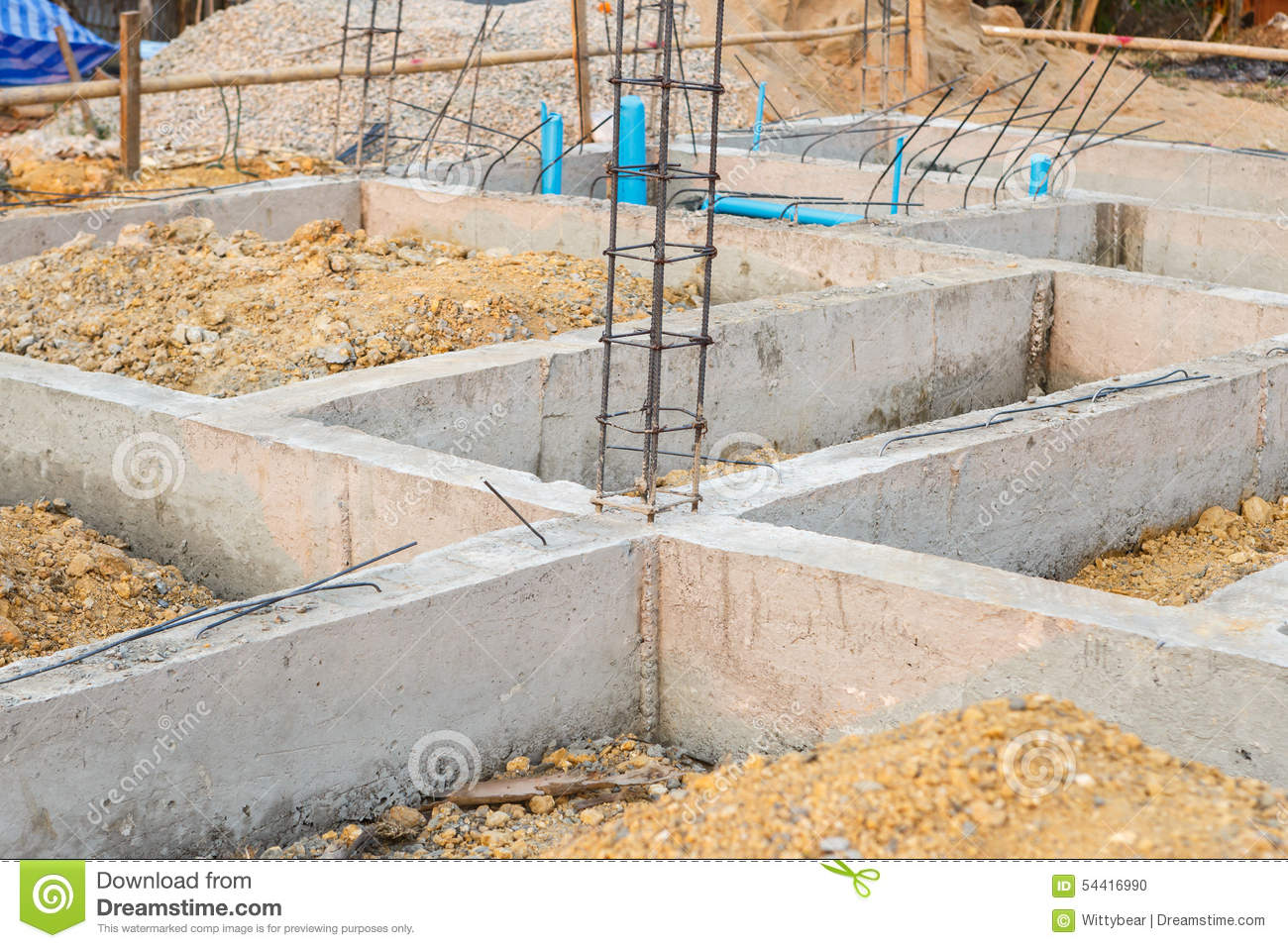 The foundation for a house in the country 41