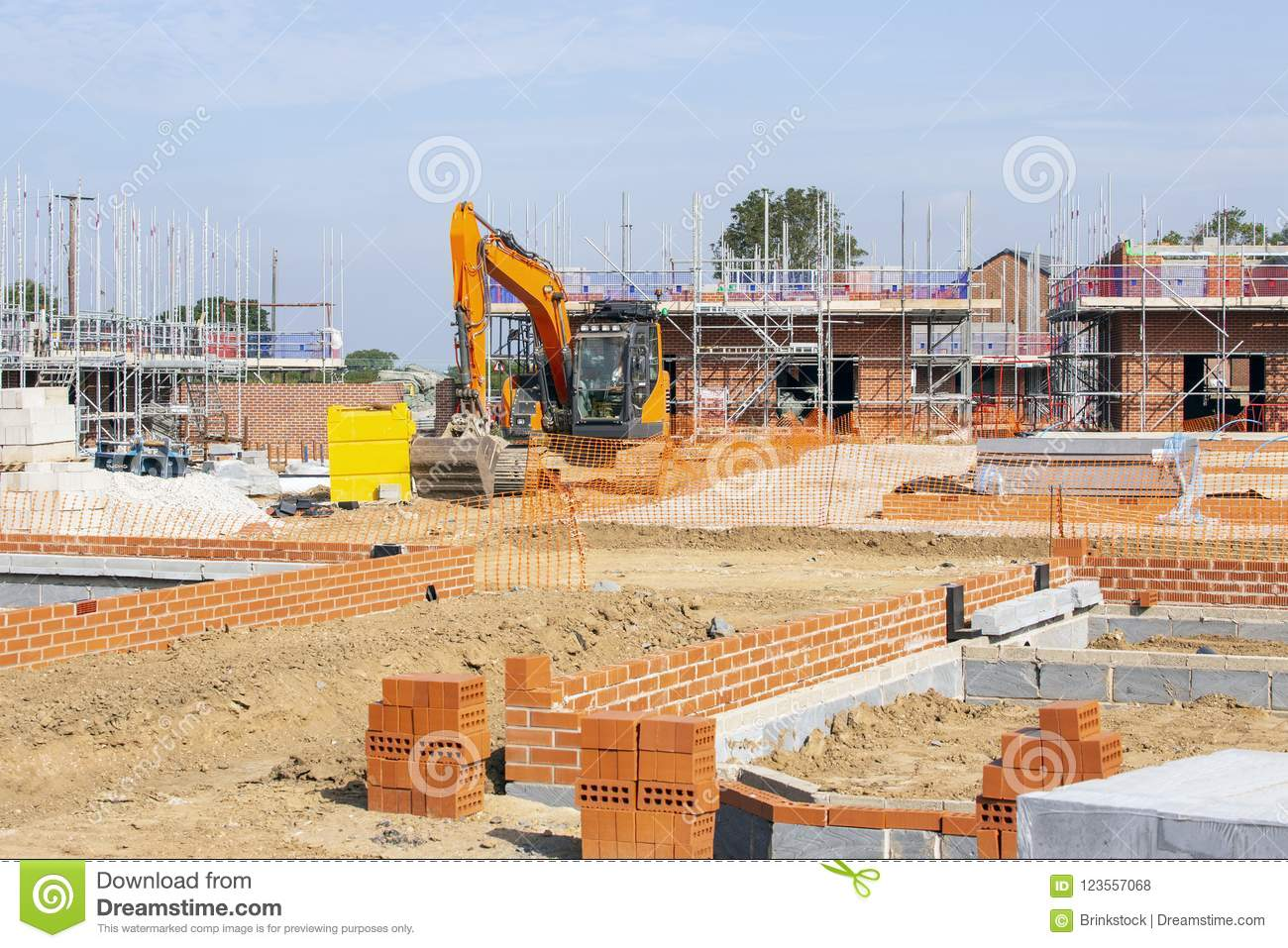 Foundations of newly build homes UK