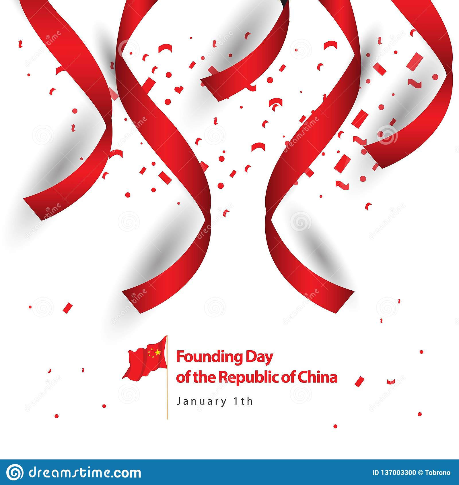Founding Day of the Republic of China Vector Design Illustration