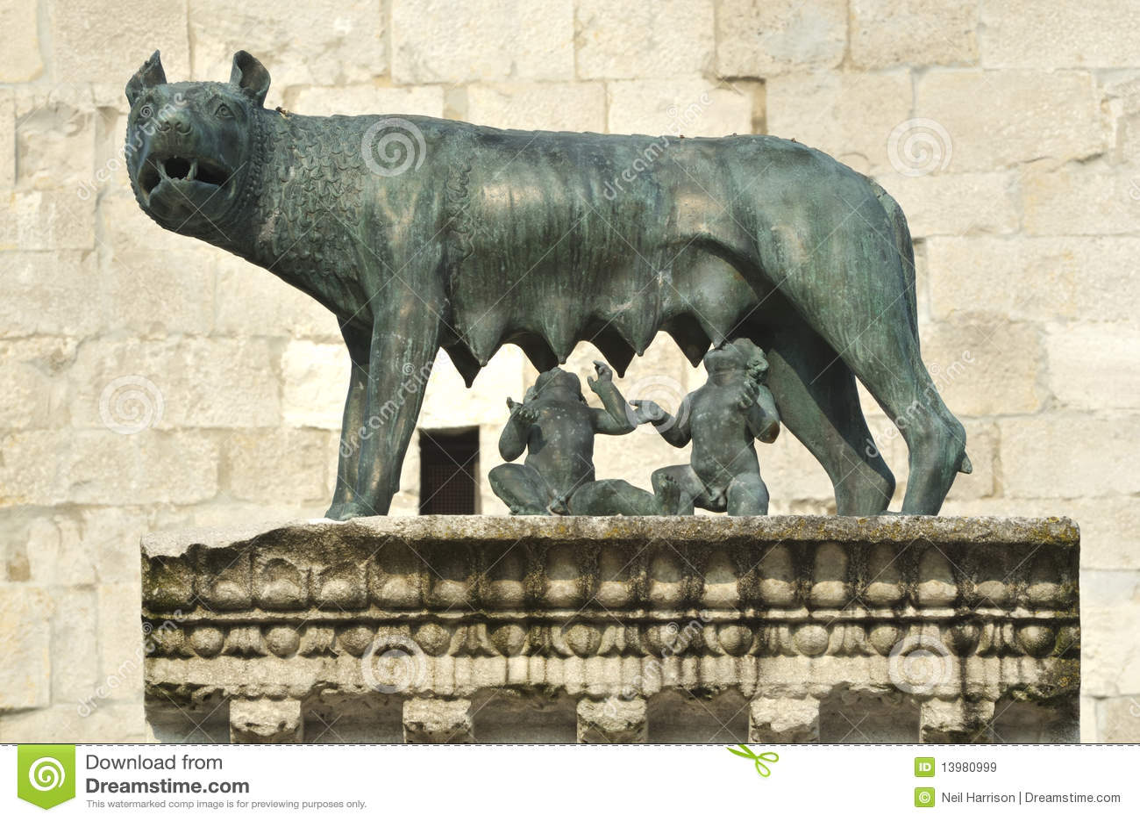 founding of rome stock image image of male byzantium 13980999