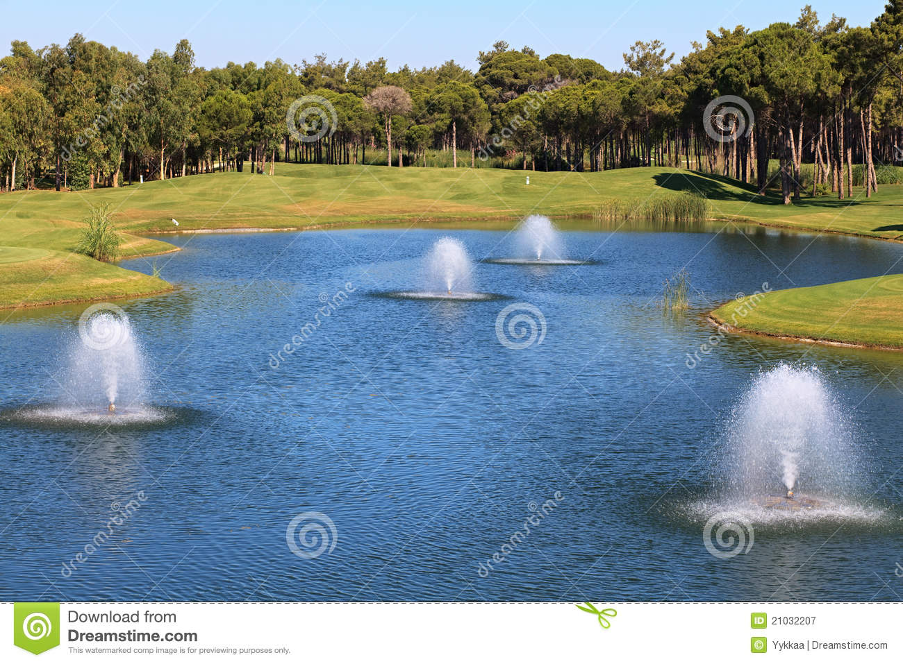 Cafe on the artificial pond stock image cartoondealer for Artificial pond water