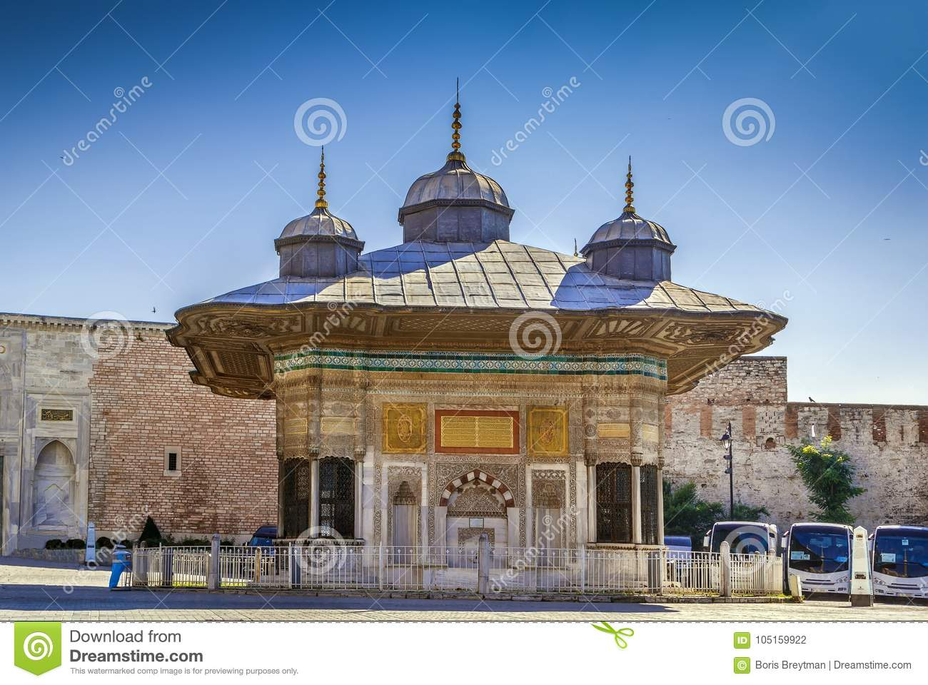 Fountain Of Ahmed III, Istanbul, Turkey Stock Photo - Image of islam