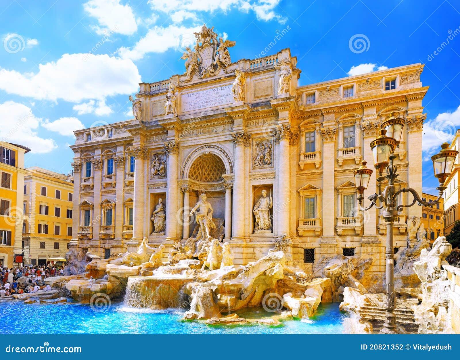 Fountain Di Trevi Rome Italy Stock Photography Image