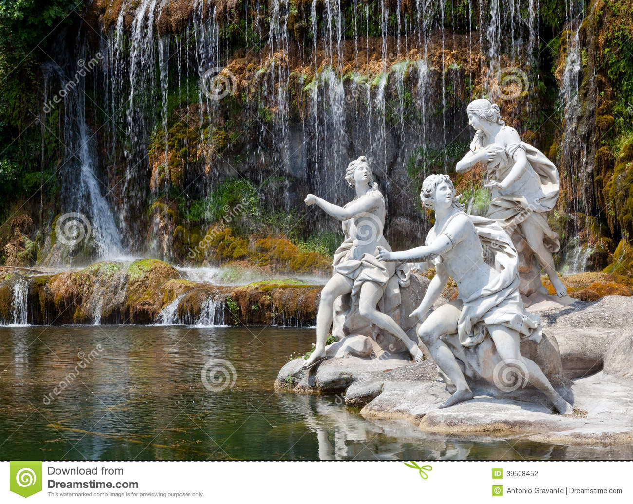 Fountain Of Diana And Actaeon Royal Palace Caserta