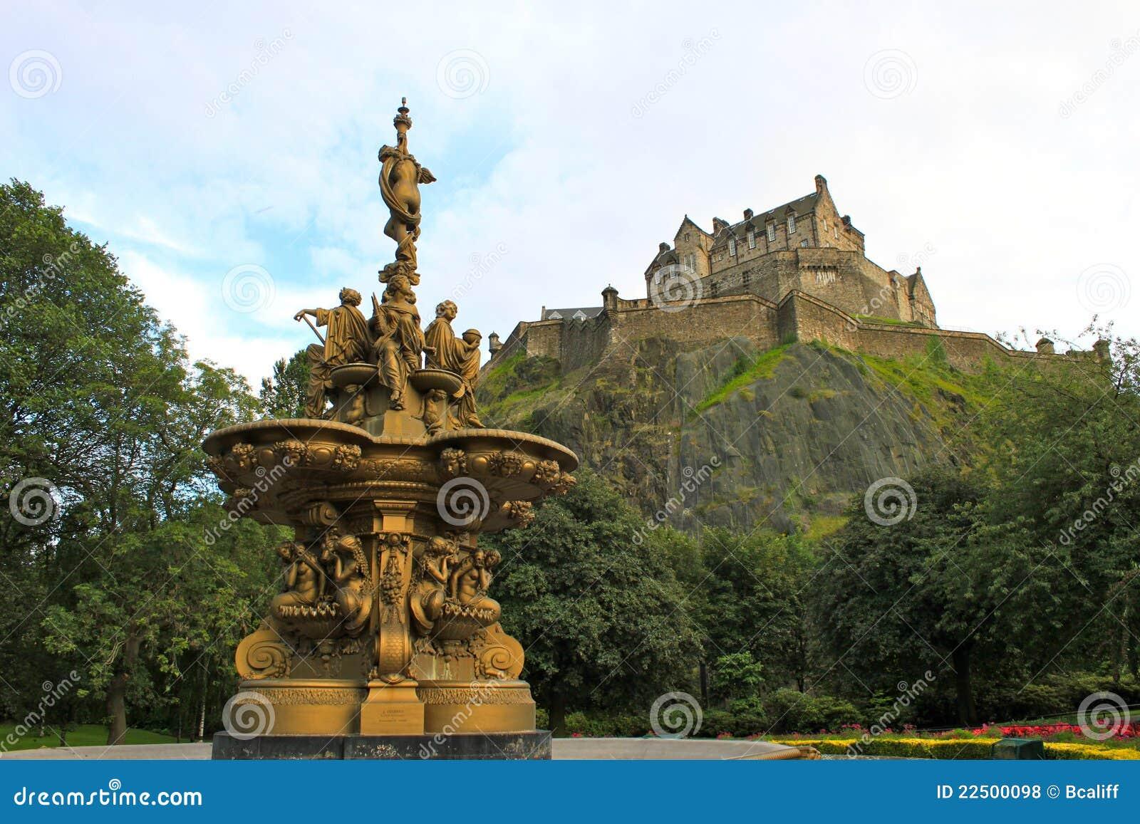 Edinburgh castle fountain