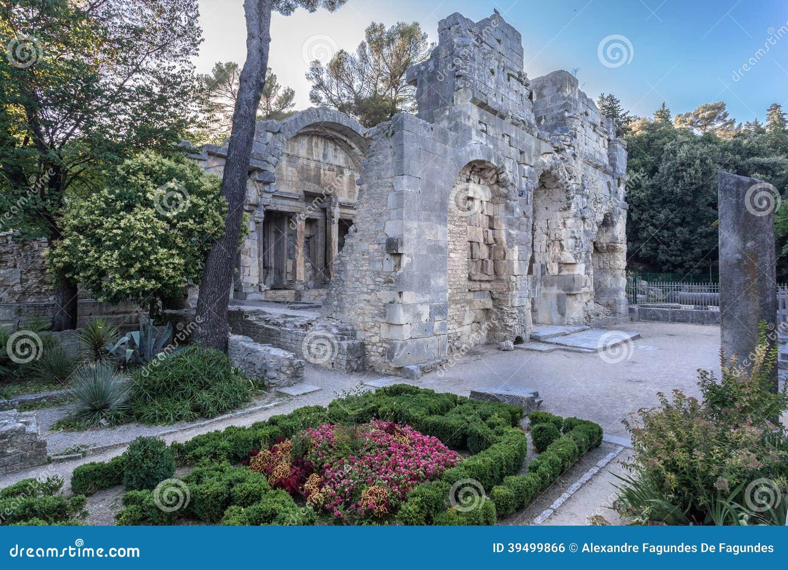 The Fountain Gardens Nimes Stock Photo