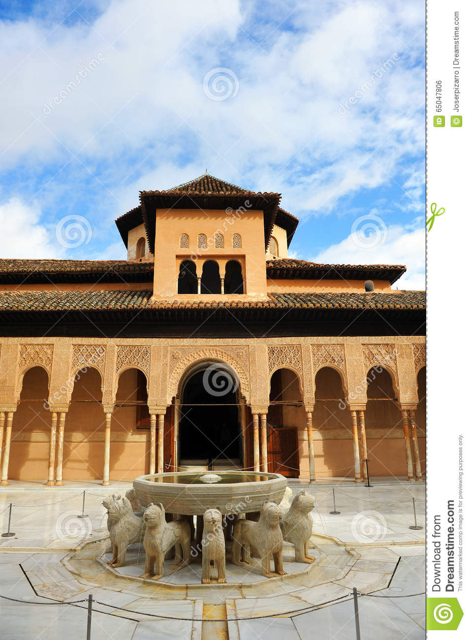 fountain of the lions palace of alhambra granada andalusia spain editorial photo image. Black Bedroom Furniture Sets. Home Design Ideas