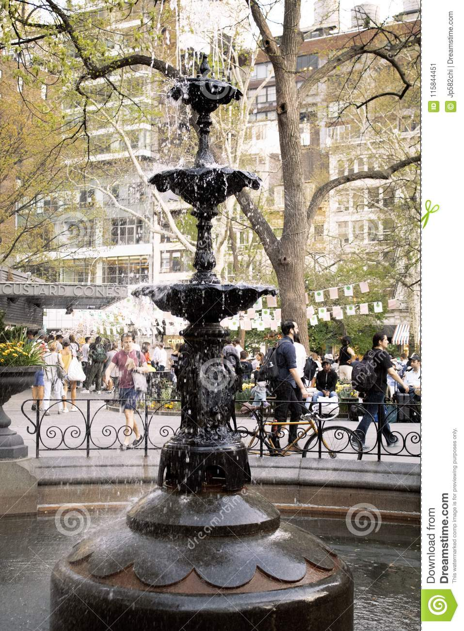 Fountain in Madison Square Park, New York City