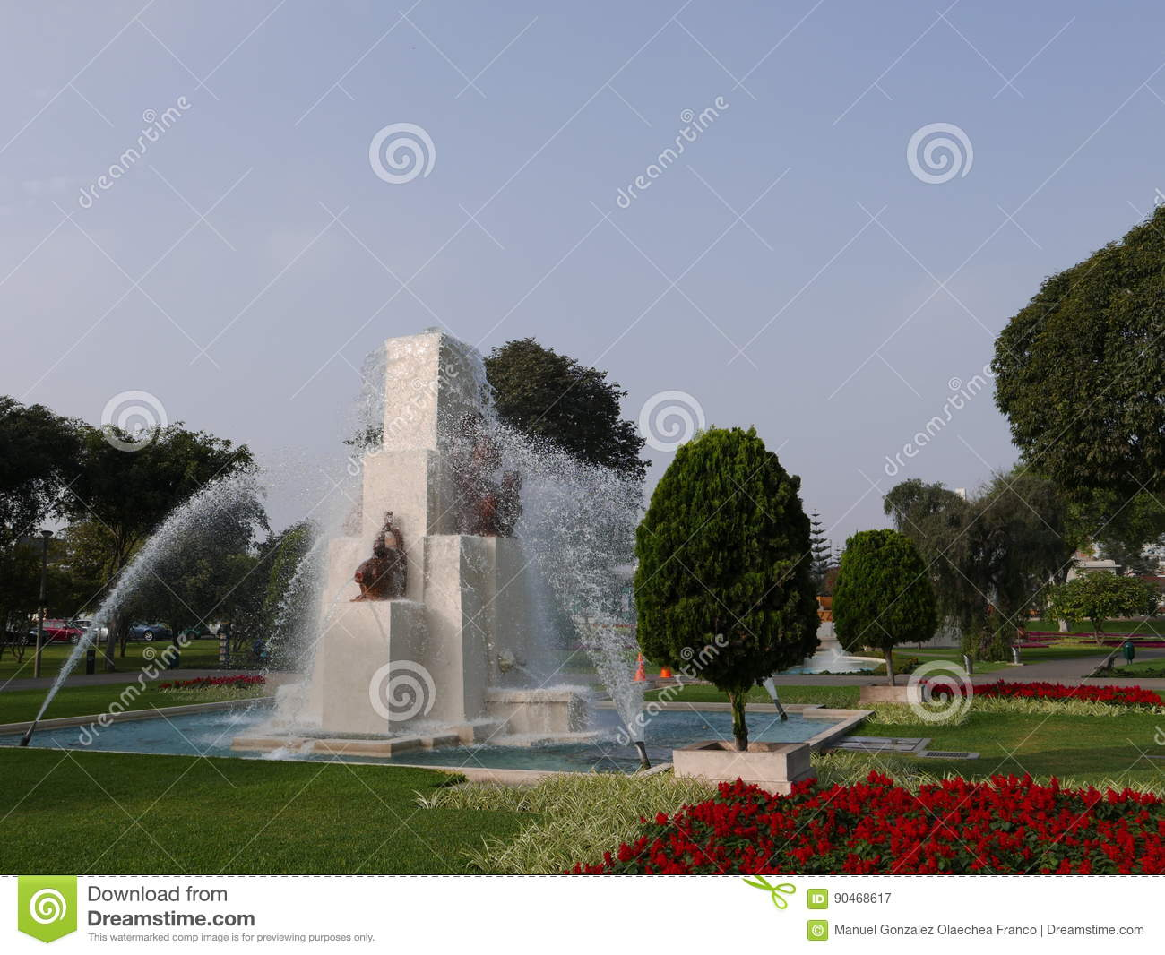 Water fountains lima - Fountain In The Magic Water Circuit In Lima