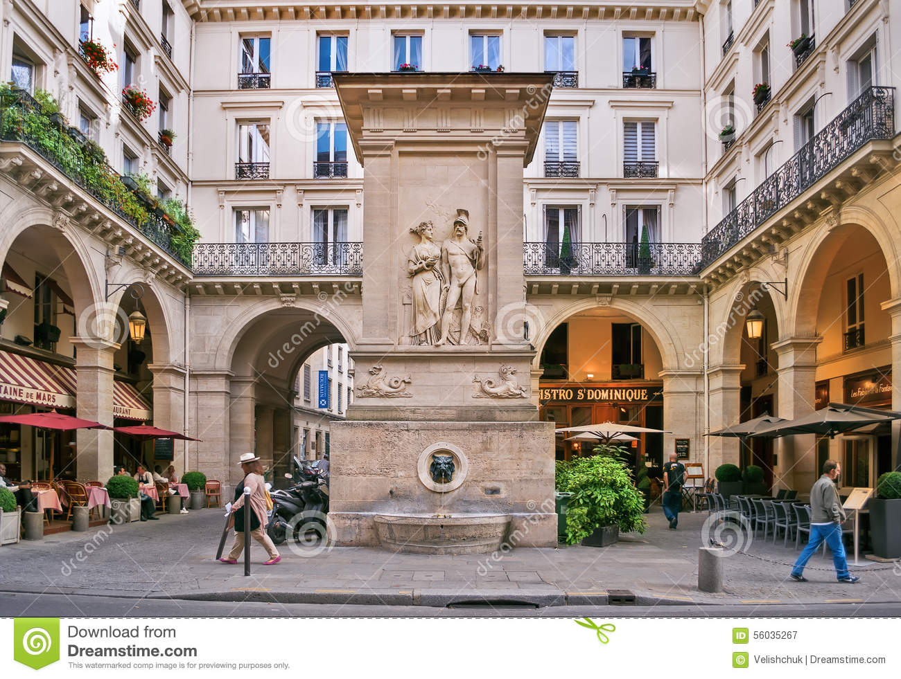 the fountain of mars la fontaine de mars editorial photography image of spring building. Black Bedroom Furniture Sets. Home Design Ideas