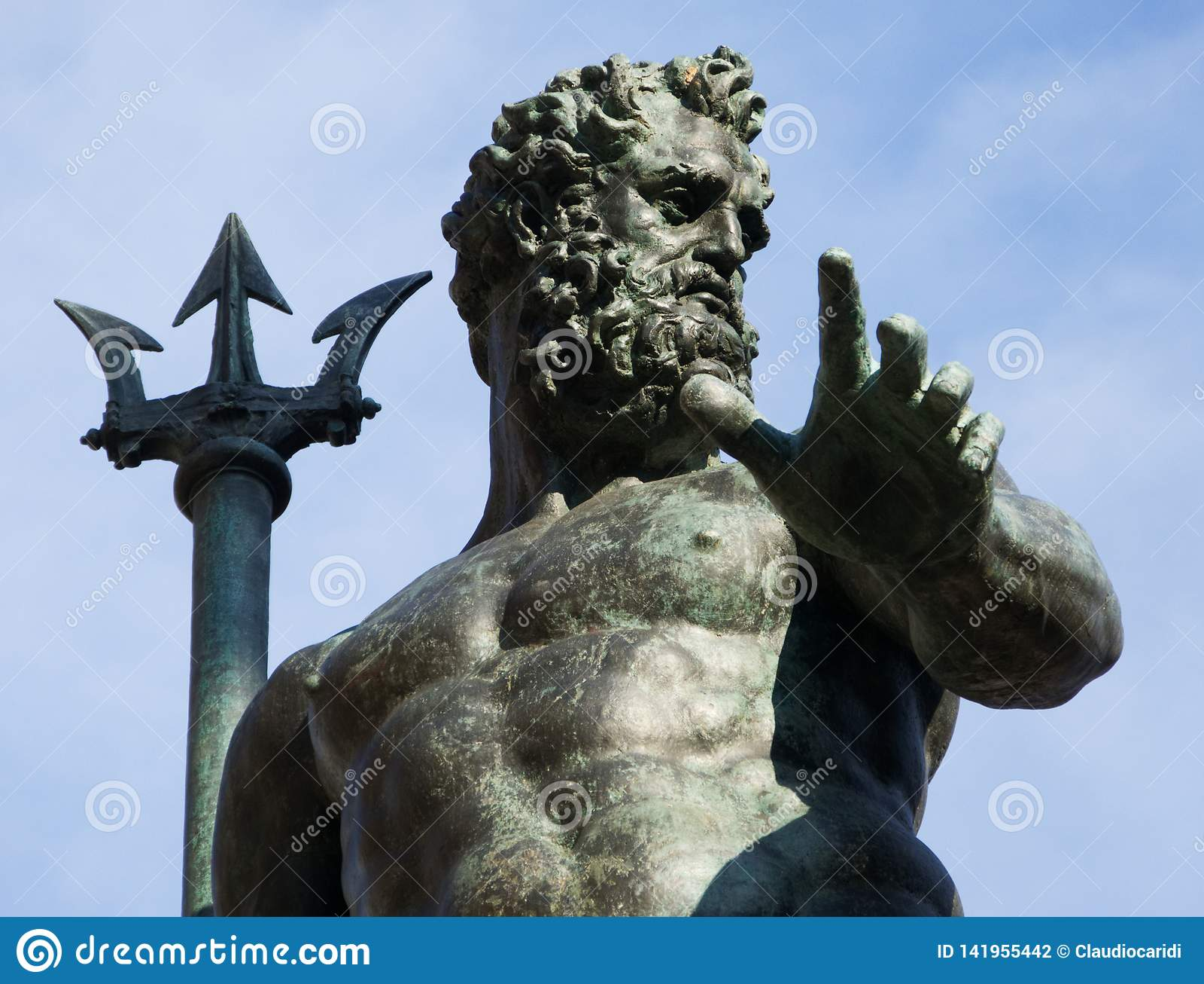 Fountain of Neptune, Fontana del Nettuno, Bologna, Italy