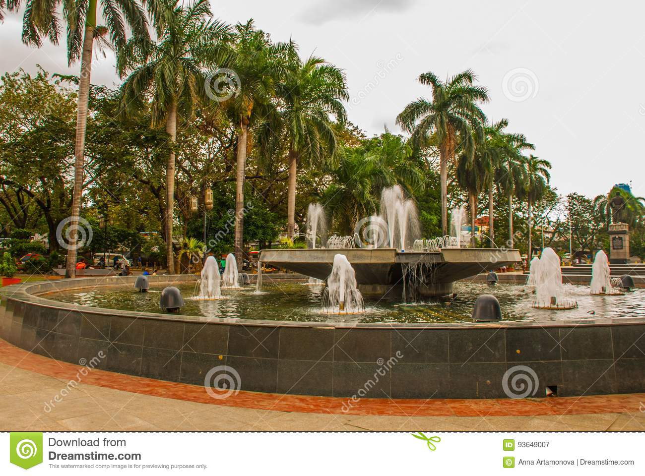 The Fountain Outside The Post Office Manila Stock Image - Image of ...