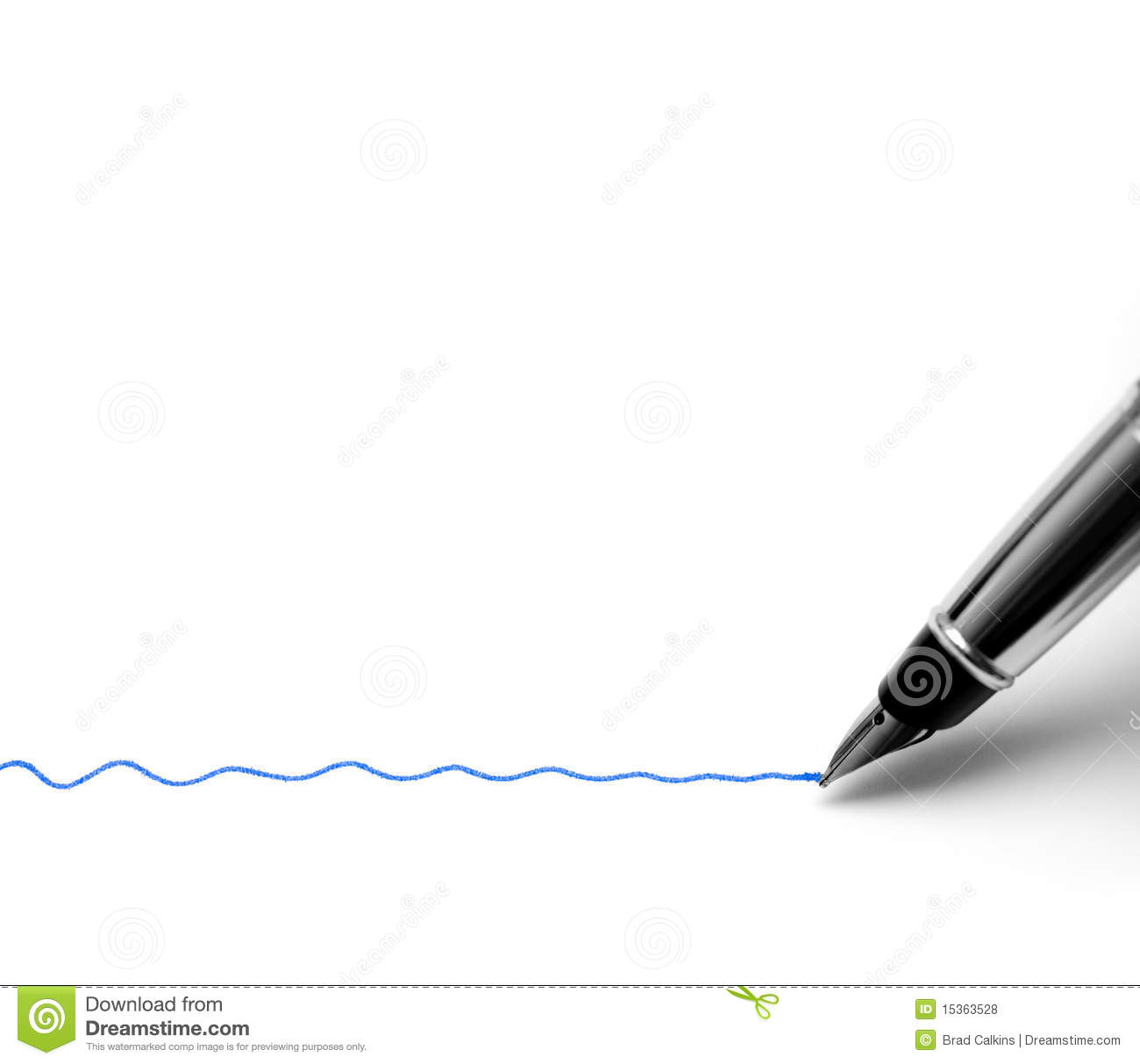 Drawing Lines With The Pen Tool : Fountain pen stock photo image of underline isolated