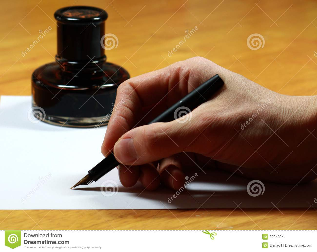 Stock Images  Fountain pen and inkwellFountain Pen And Inkwell