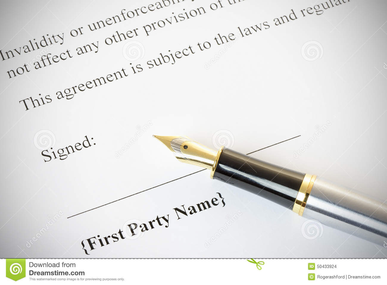 Fountain Pen With A Legal Document Stock Photo Image Of Office - Signing legal documents