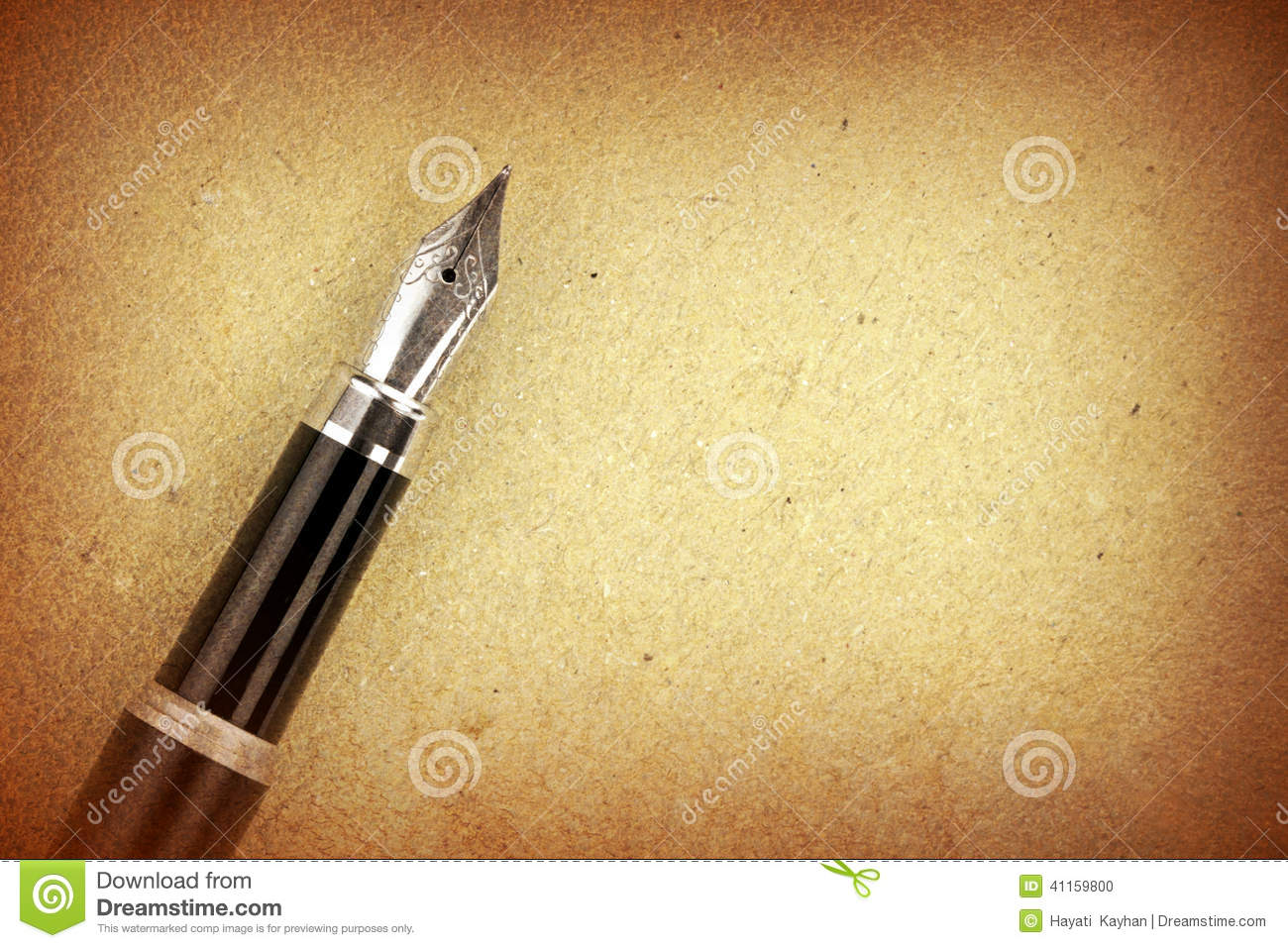 Fountain Pen A On Paper Stock Photo Image Of