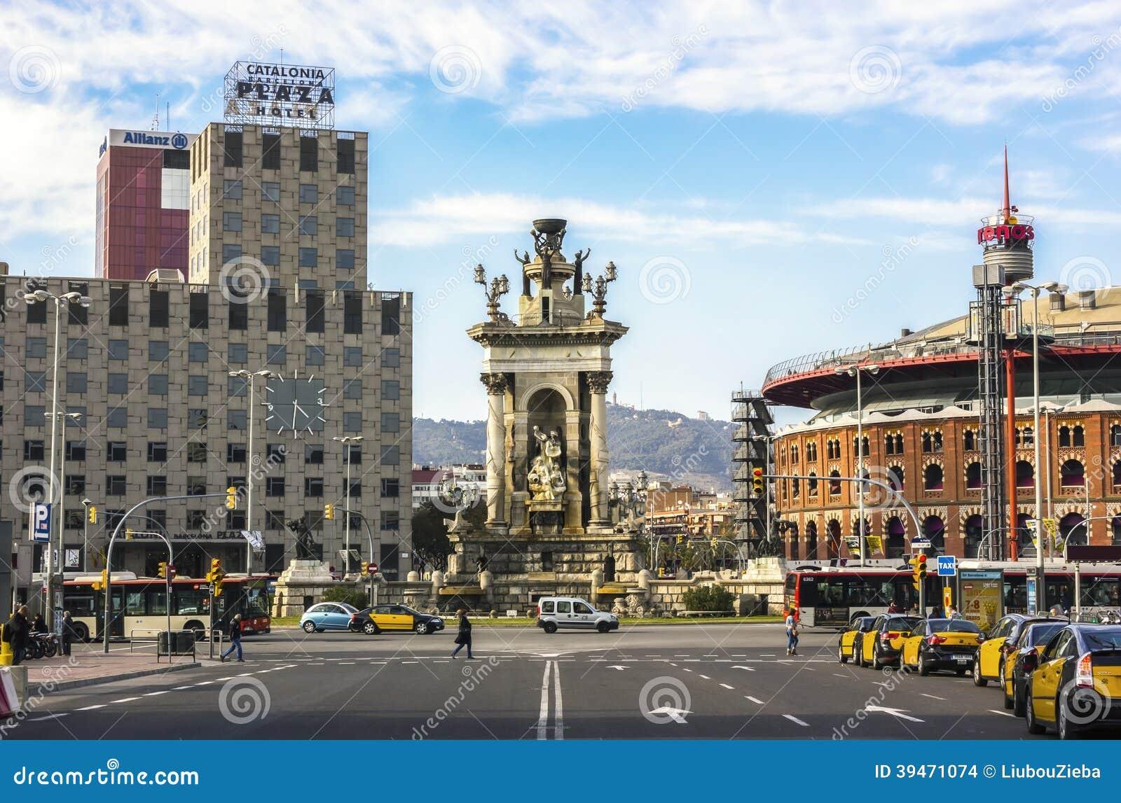 Fountain at Plaza de Espana, Barcelona