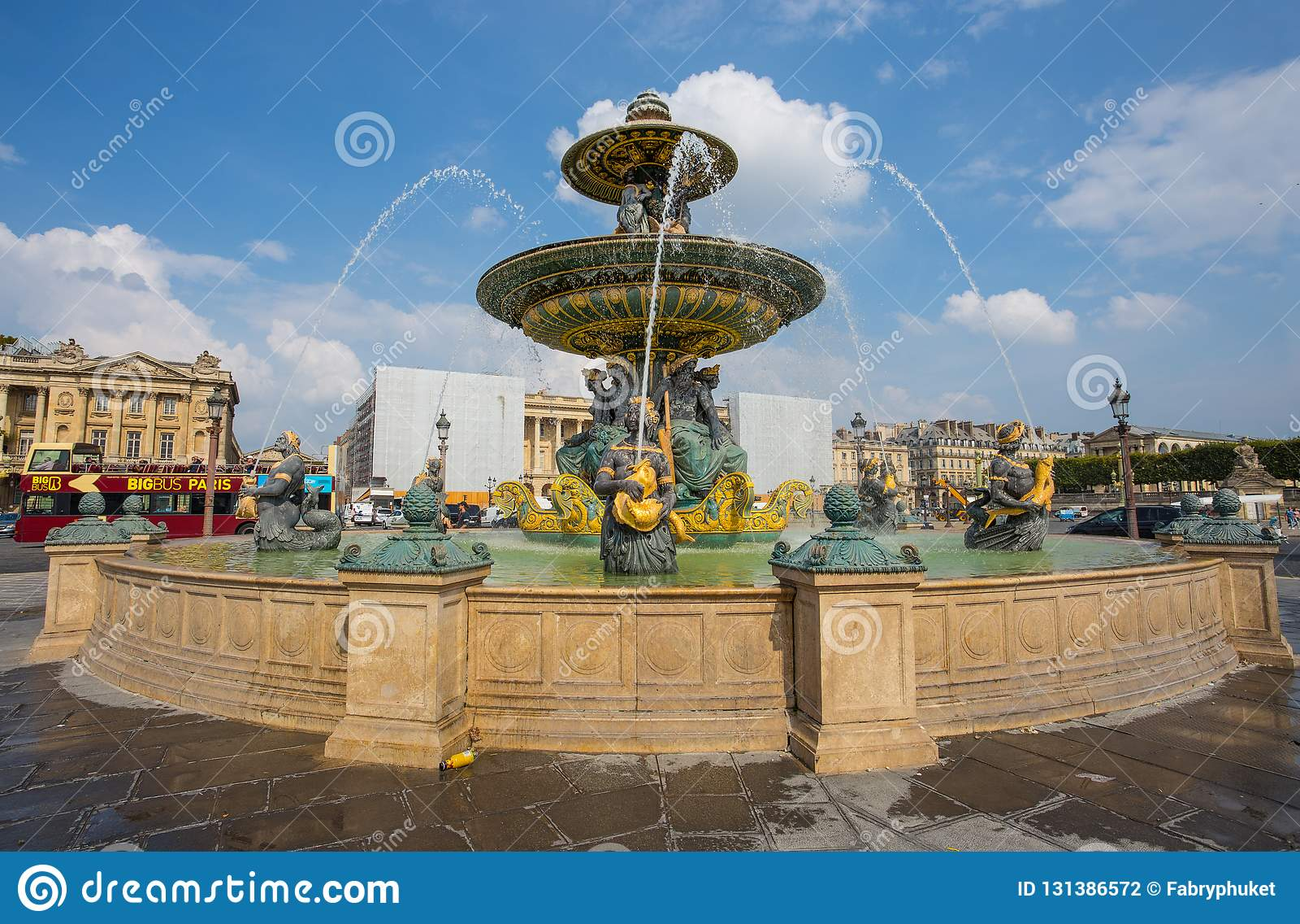 Plaza De La Concordia the fountain of the seas at place de la concorde in paris