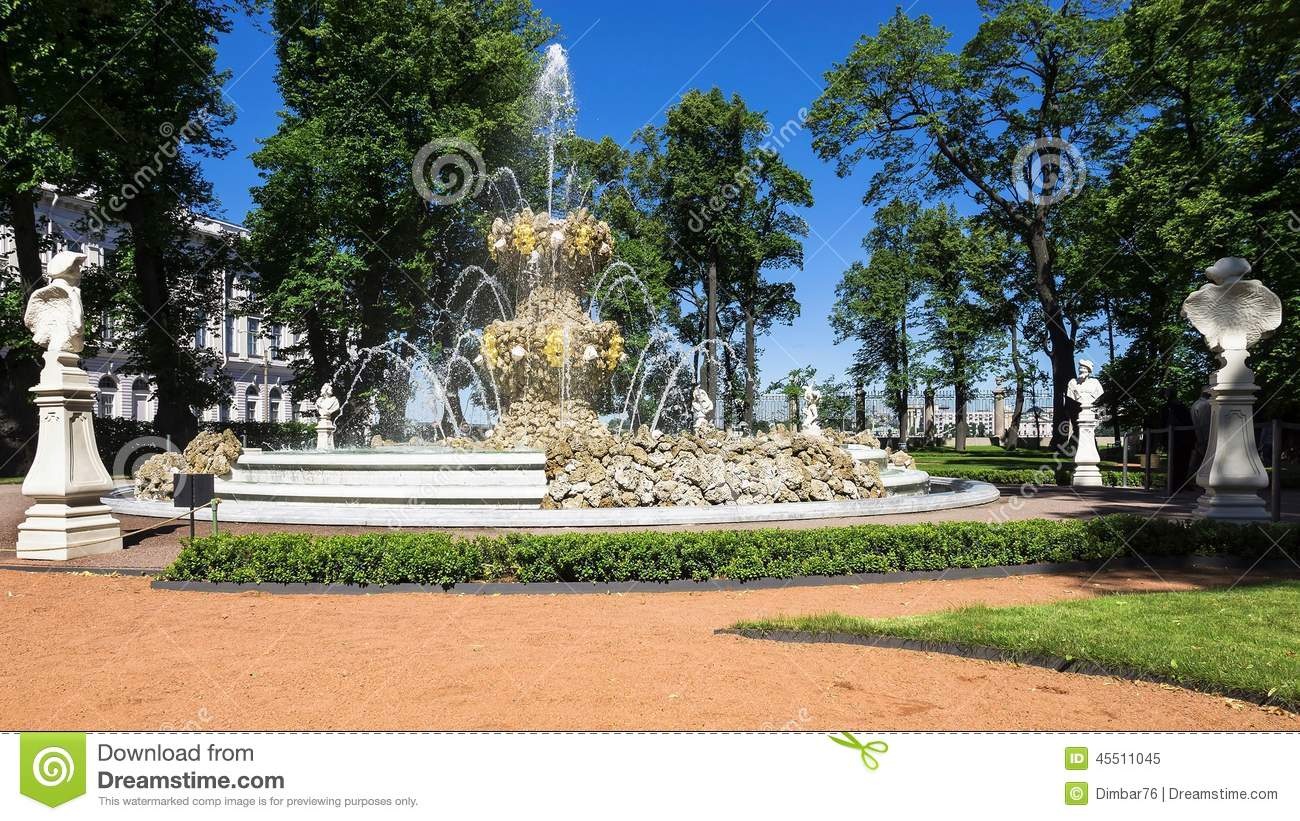 Fountain Of Summer Garden In St Petersburg Russia Stock Photo Image 45511045