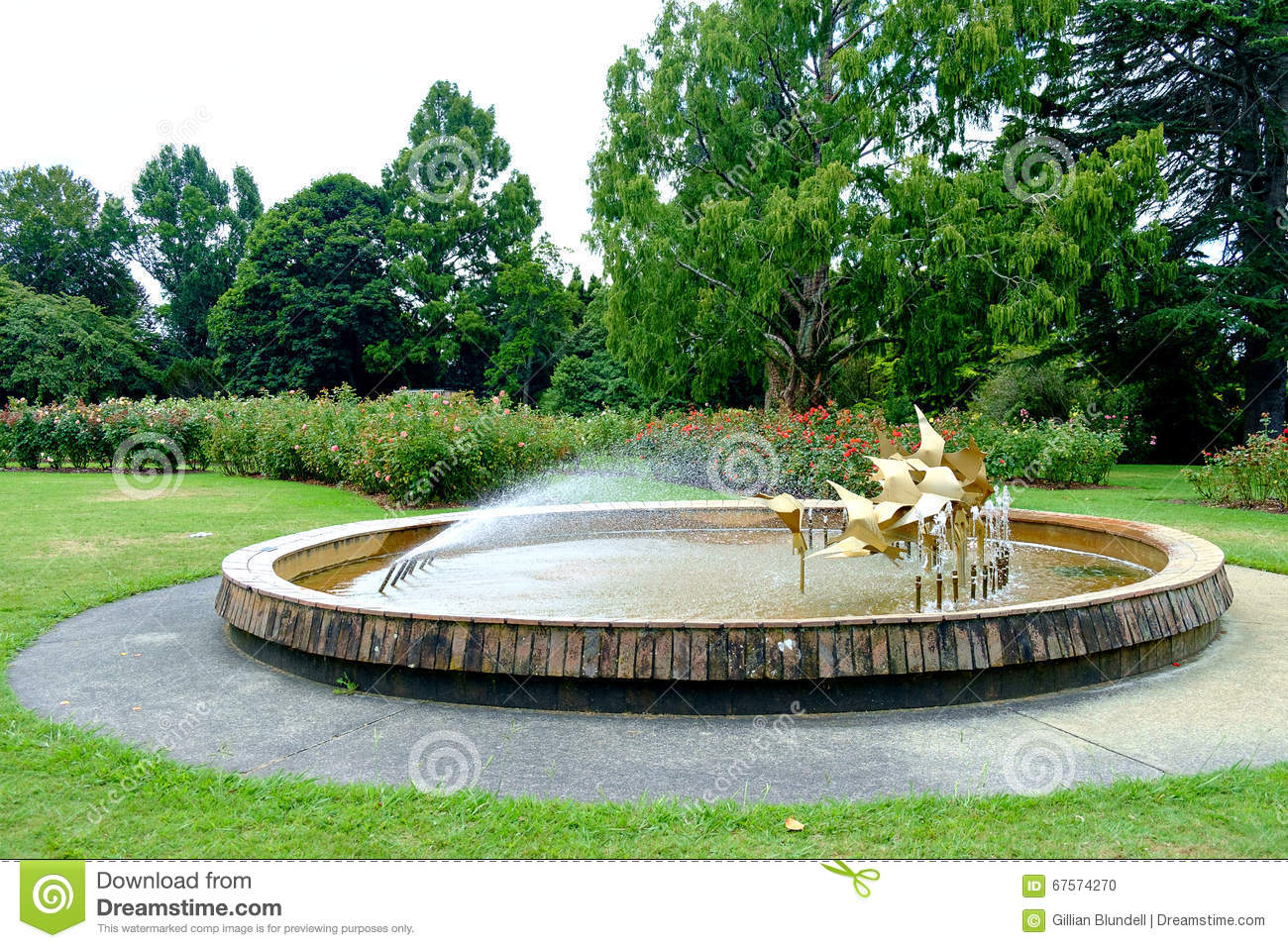 Water fountains outdoor new zealand - Fountain At Te Awamutu Rose Gardens Te Awamutu New Zealand Nz Nzl