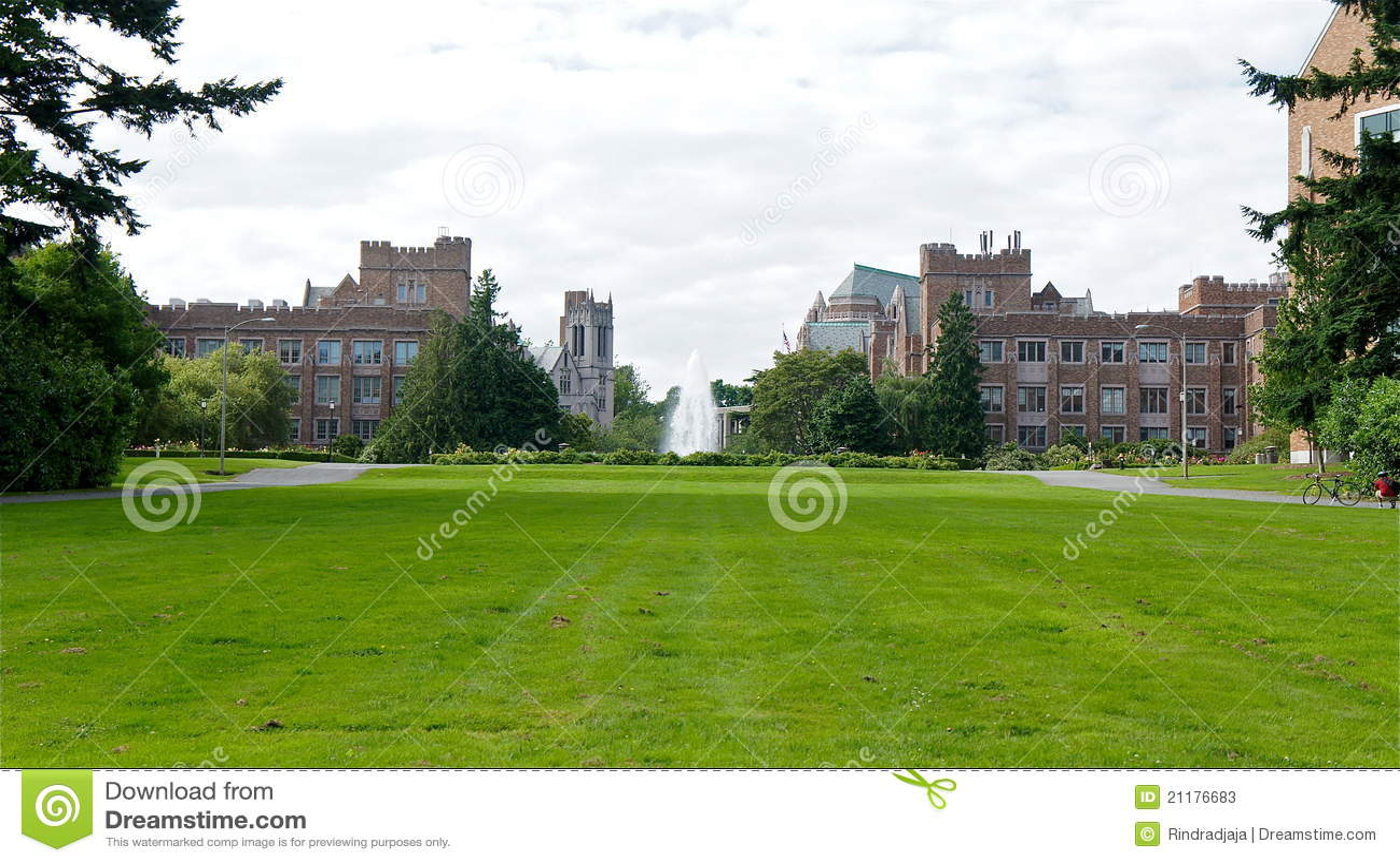 Fountain in University of Washington