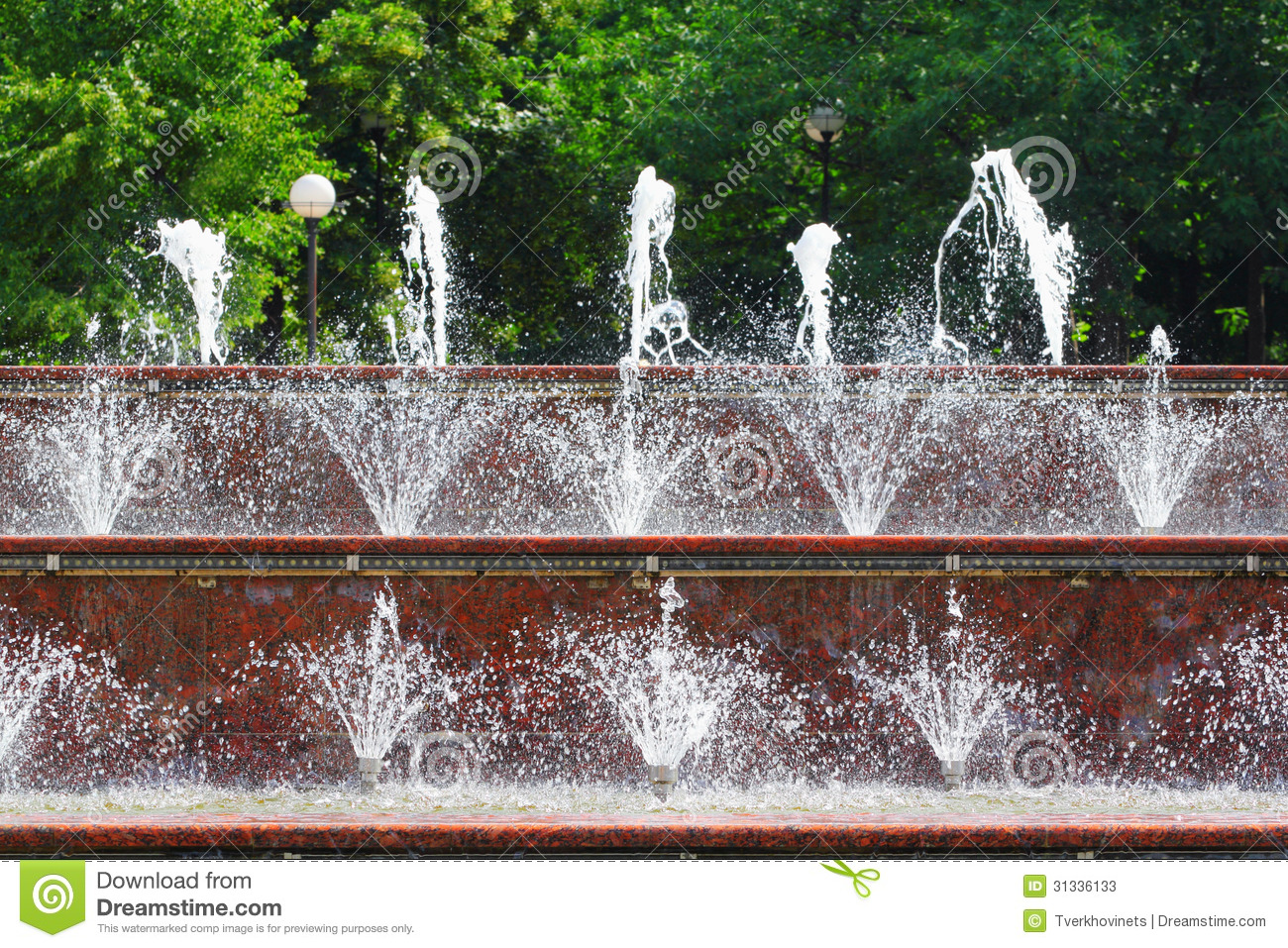 Fountain water stock photos image