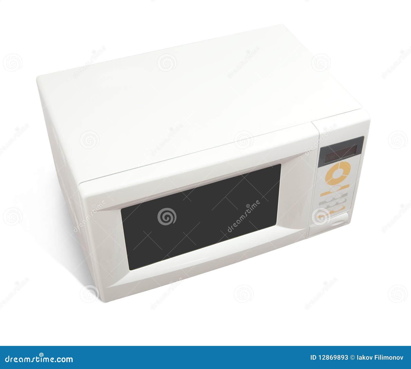Micro Onde Au Dessus Du Four four à micro-ondes au-dessus de blanc image stock - image du