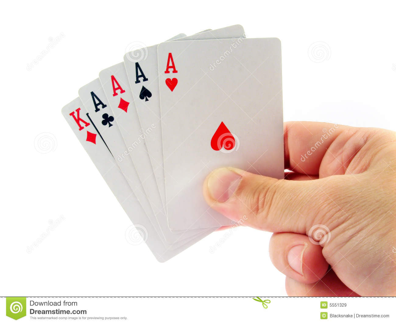 what is a hand of 4 aces in poker