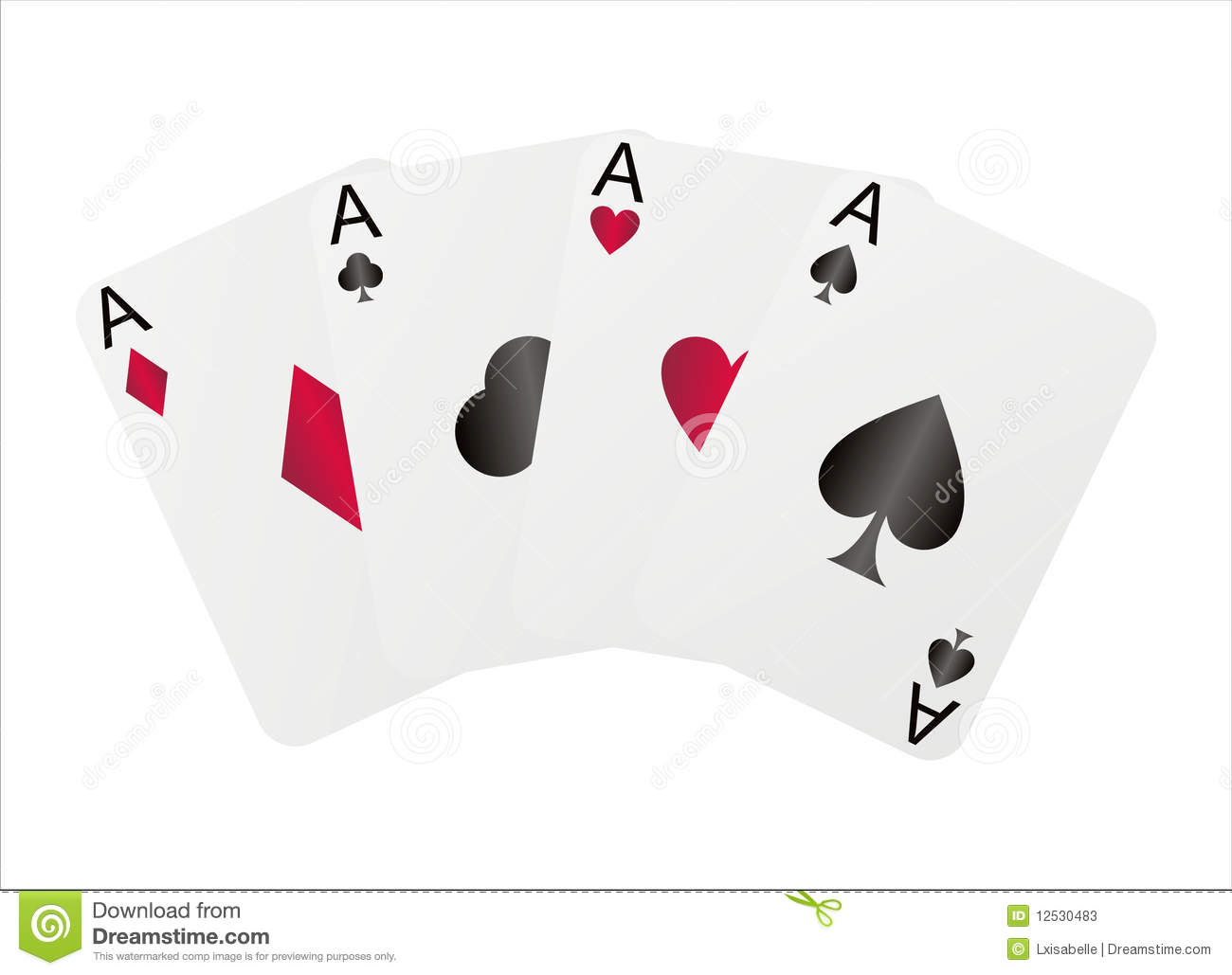 Four Aces Stock Photos - Image: 12530483