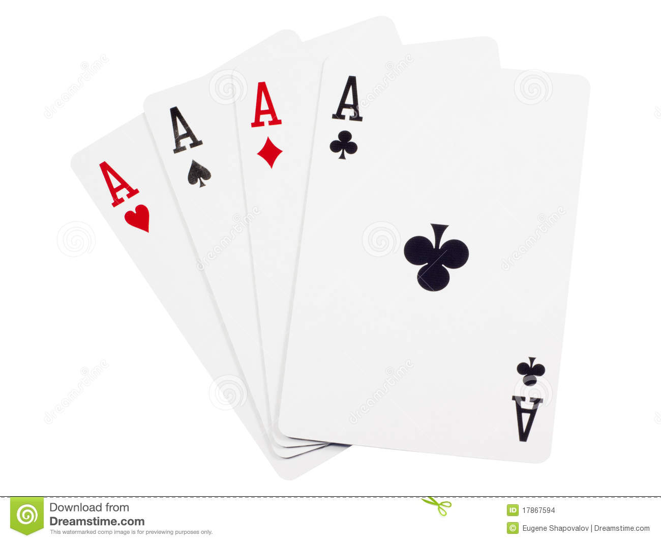 Four Aces Stock Photo Image Of Card Gaming Isolated