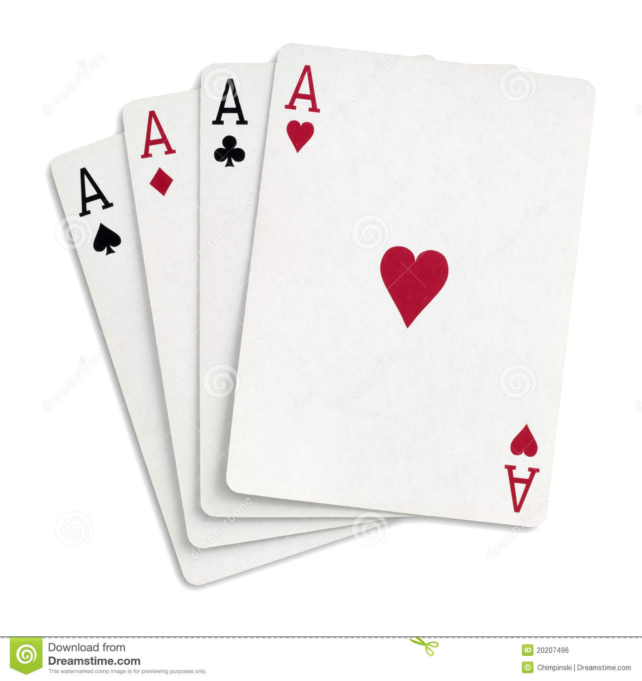 Four Aces Royalty Free Stock Image - Image: 20207496