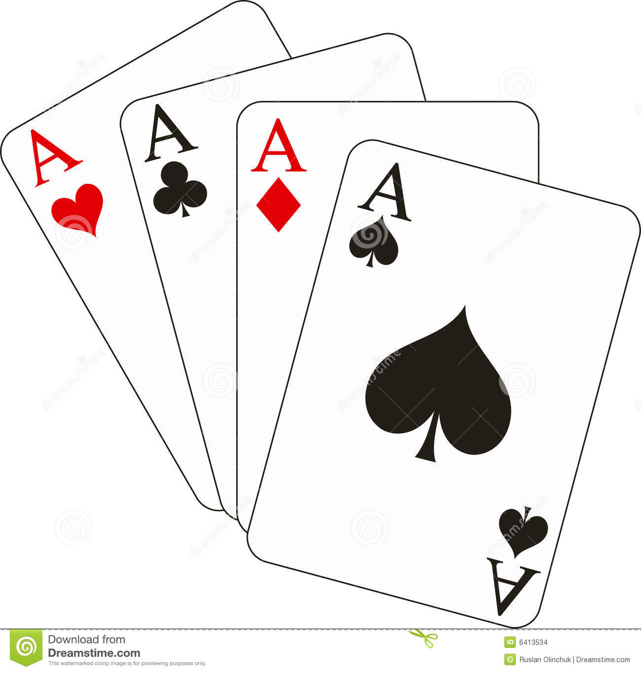 Four Aces Stock Images Image 6413534