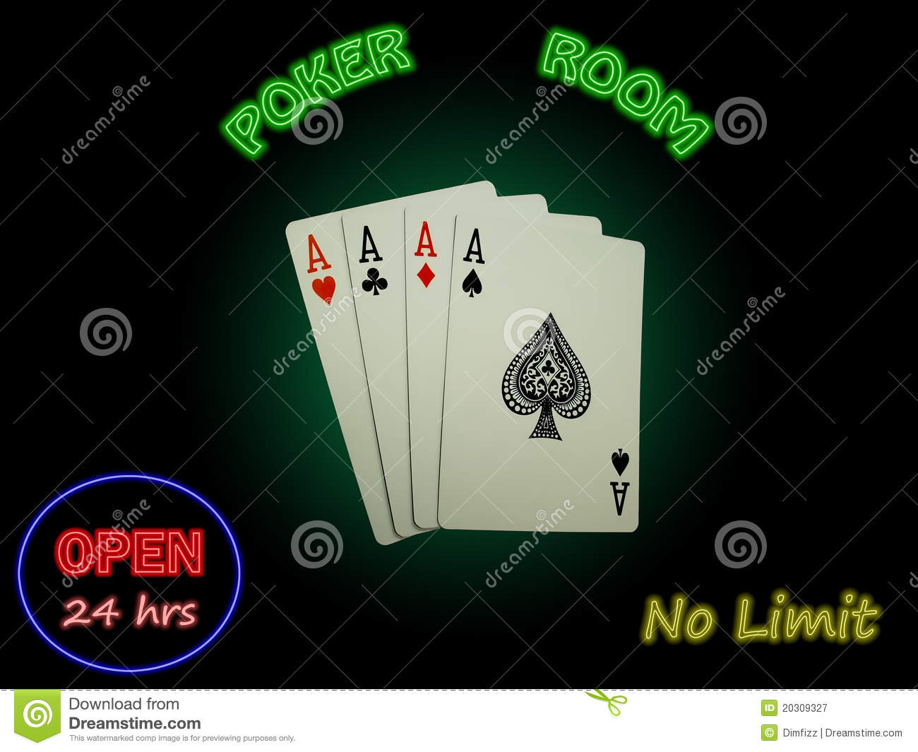 neon green aces cards poker rules