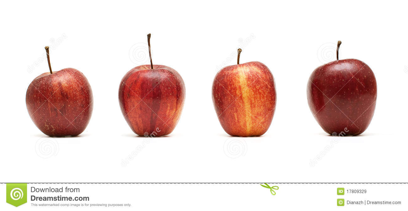 four apples stock image image of agriculture background 17809329