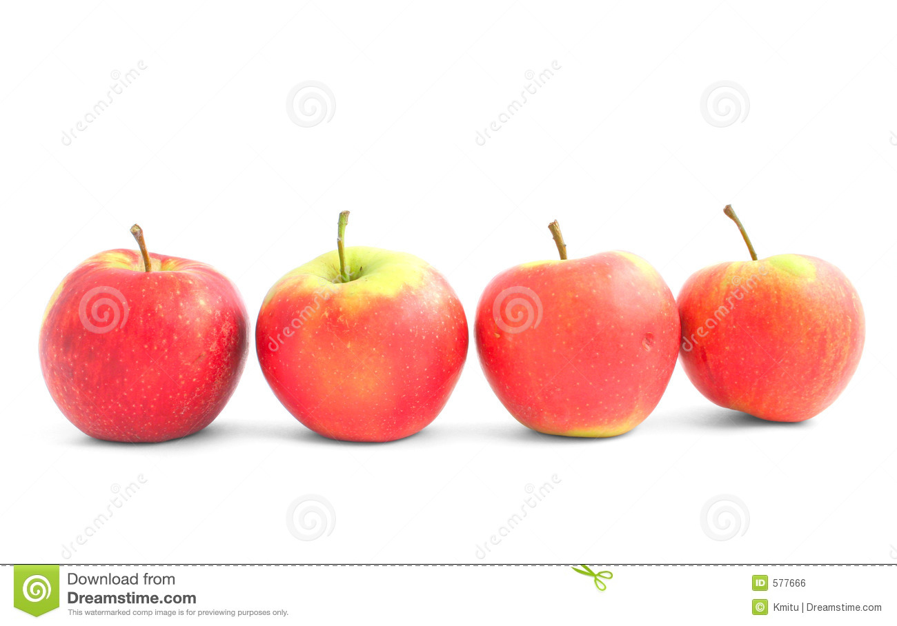 four apples in the line stock photo image of detail copyspace 577666