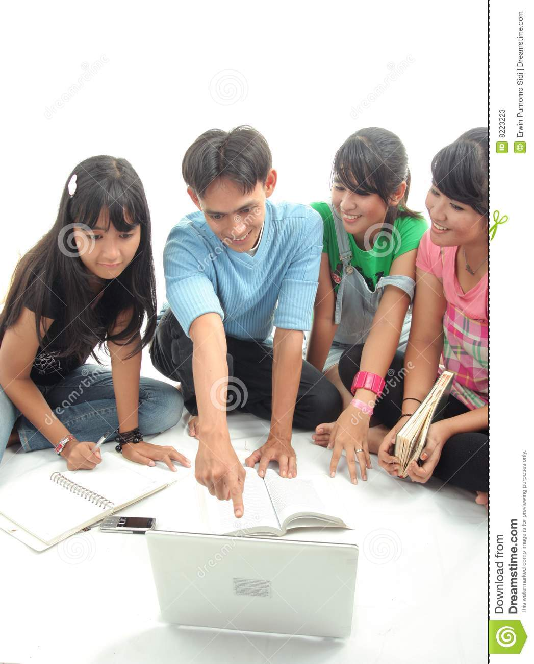 Four Asian student