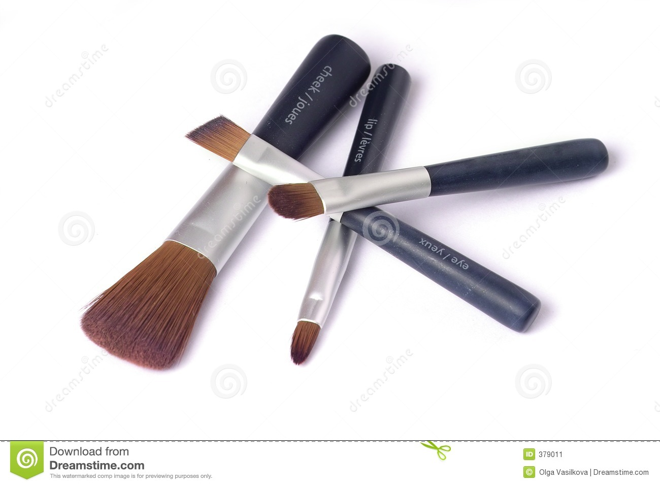 Four beauty brushes