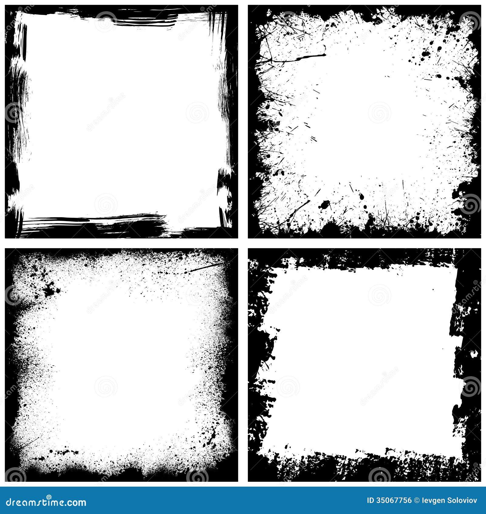 Four black frames stock vector. Illustration of picture - 35067756