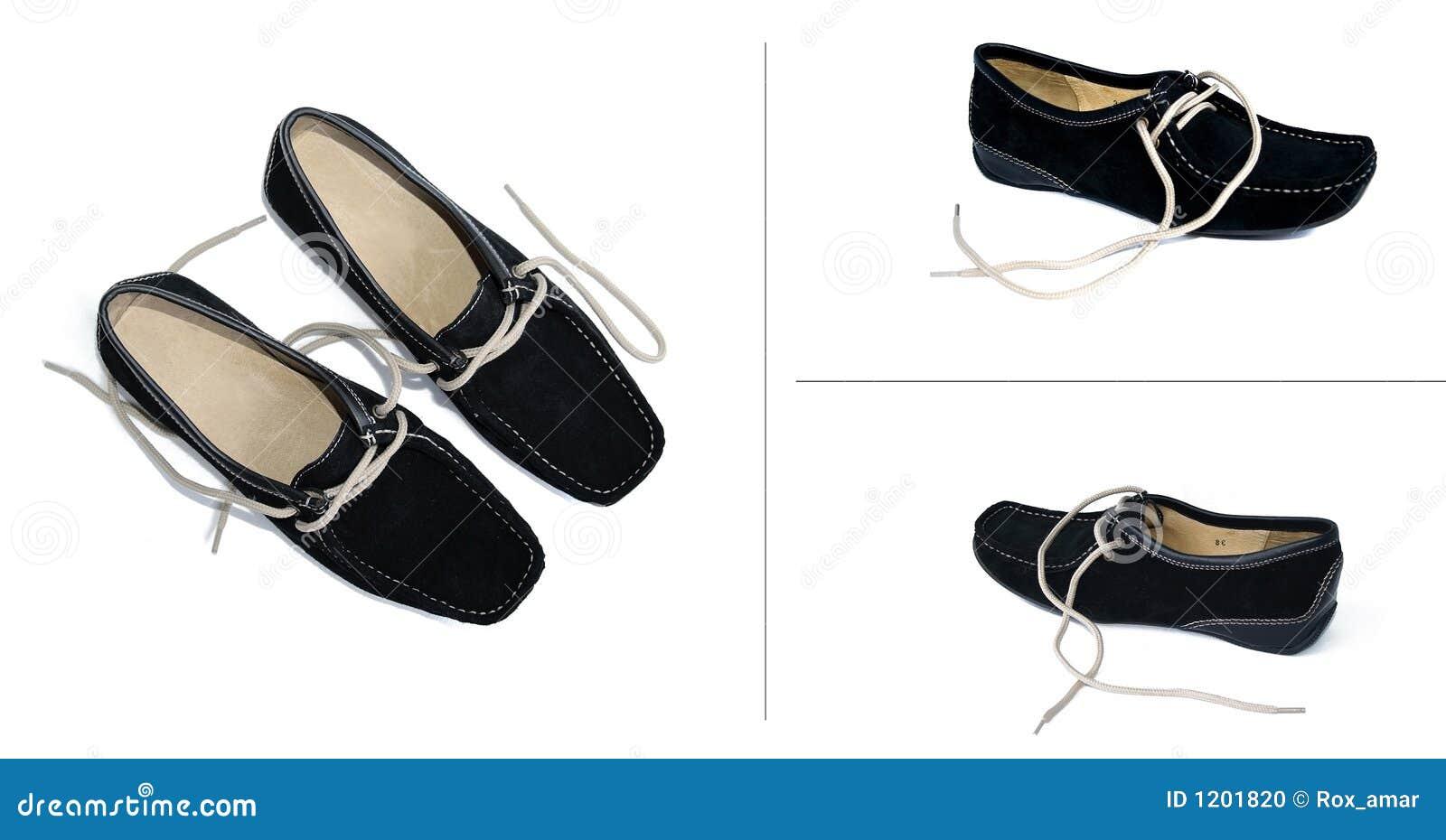 Four black shoes