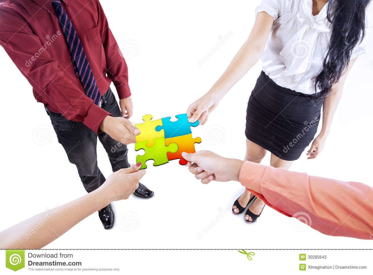 Business Team Building Puzzle Stock Photo - Image: 55918924