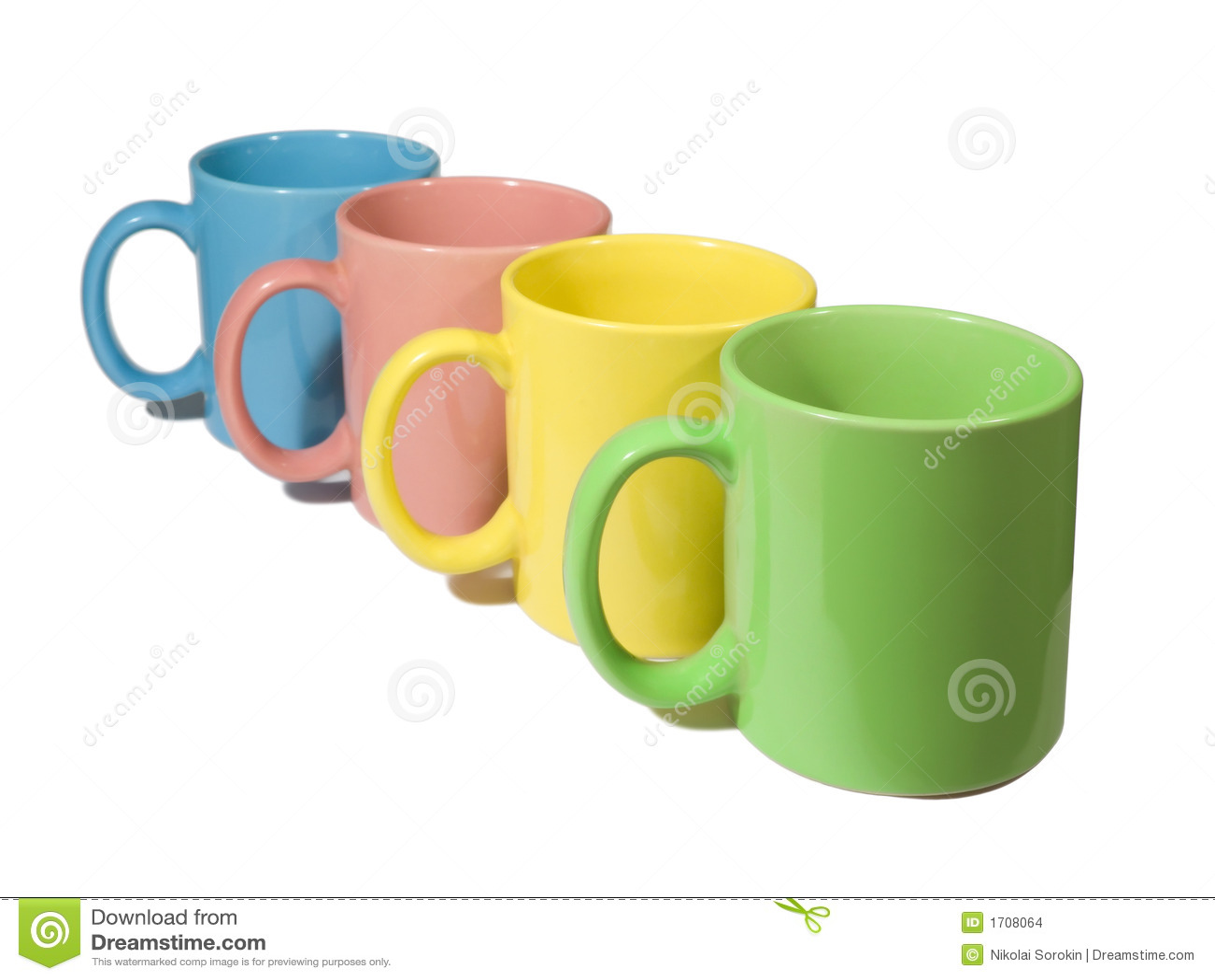 four colorful mugs - Colorful Mugs