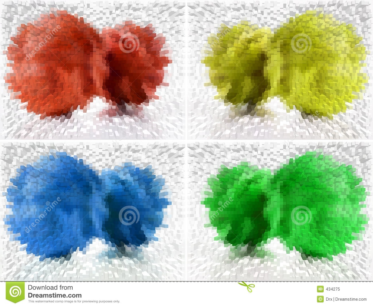 Four colors abstract background
