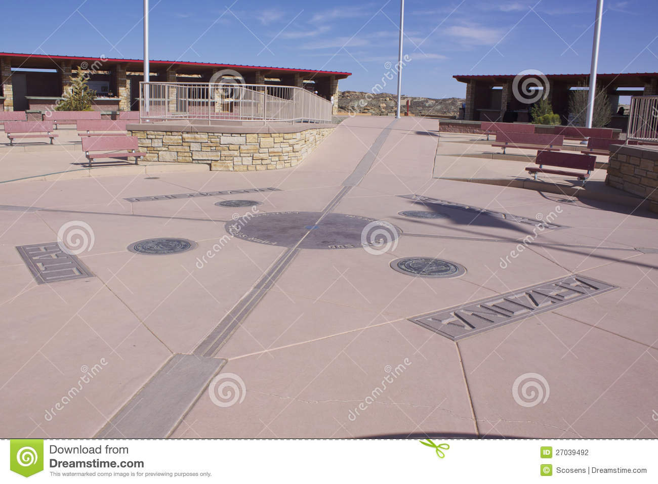 Desert Road Near The Four Corners Area In The USA Stock Images - Map of four corners area usa