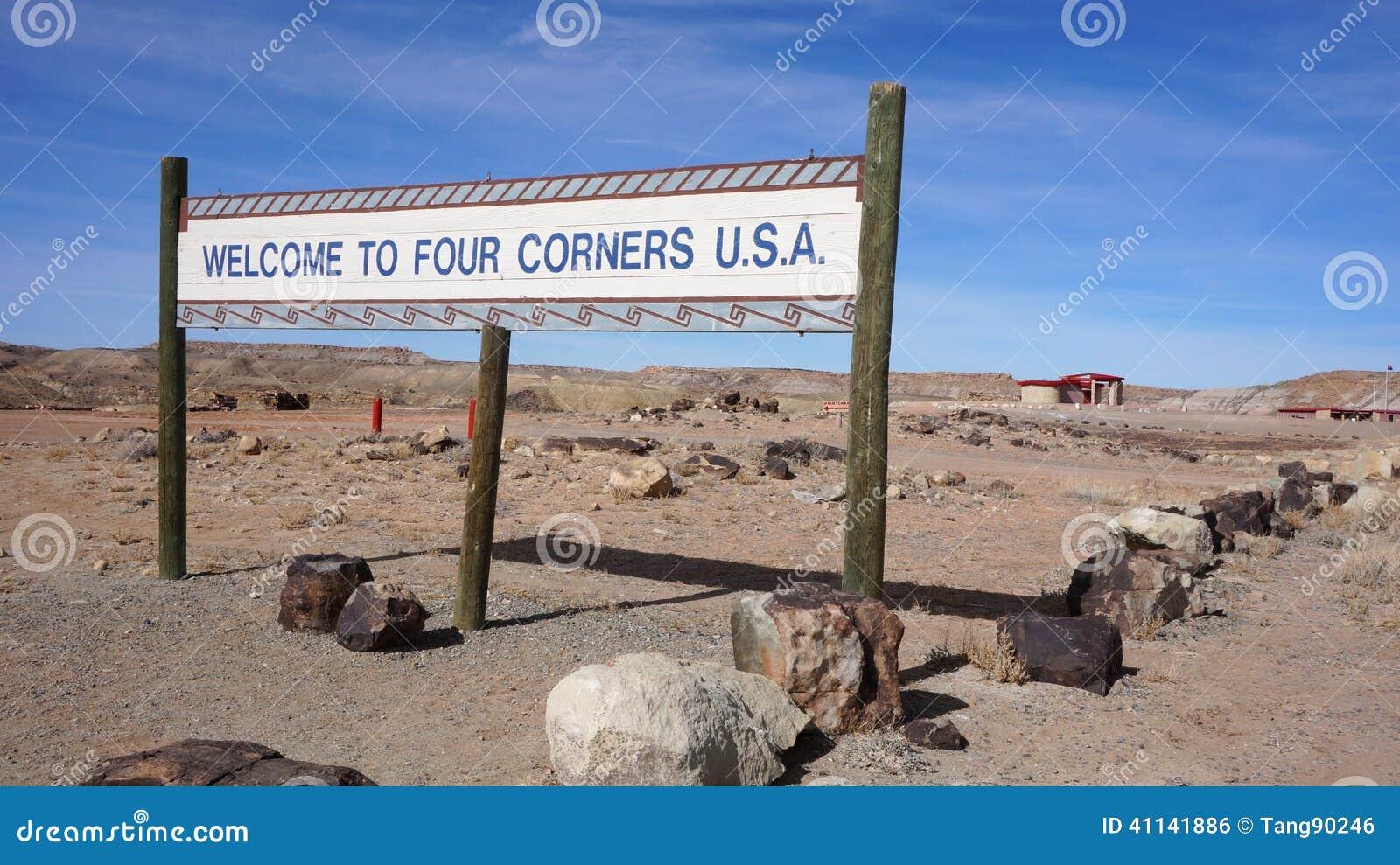 Four Corners USA Stock Photo Image - Map of four corners area usa