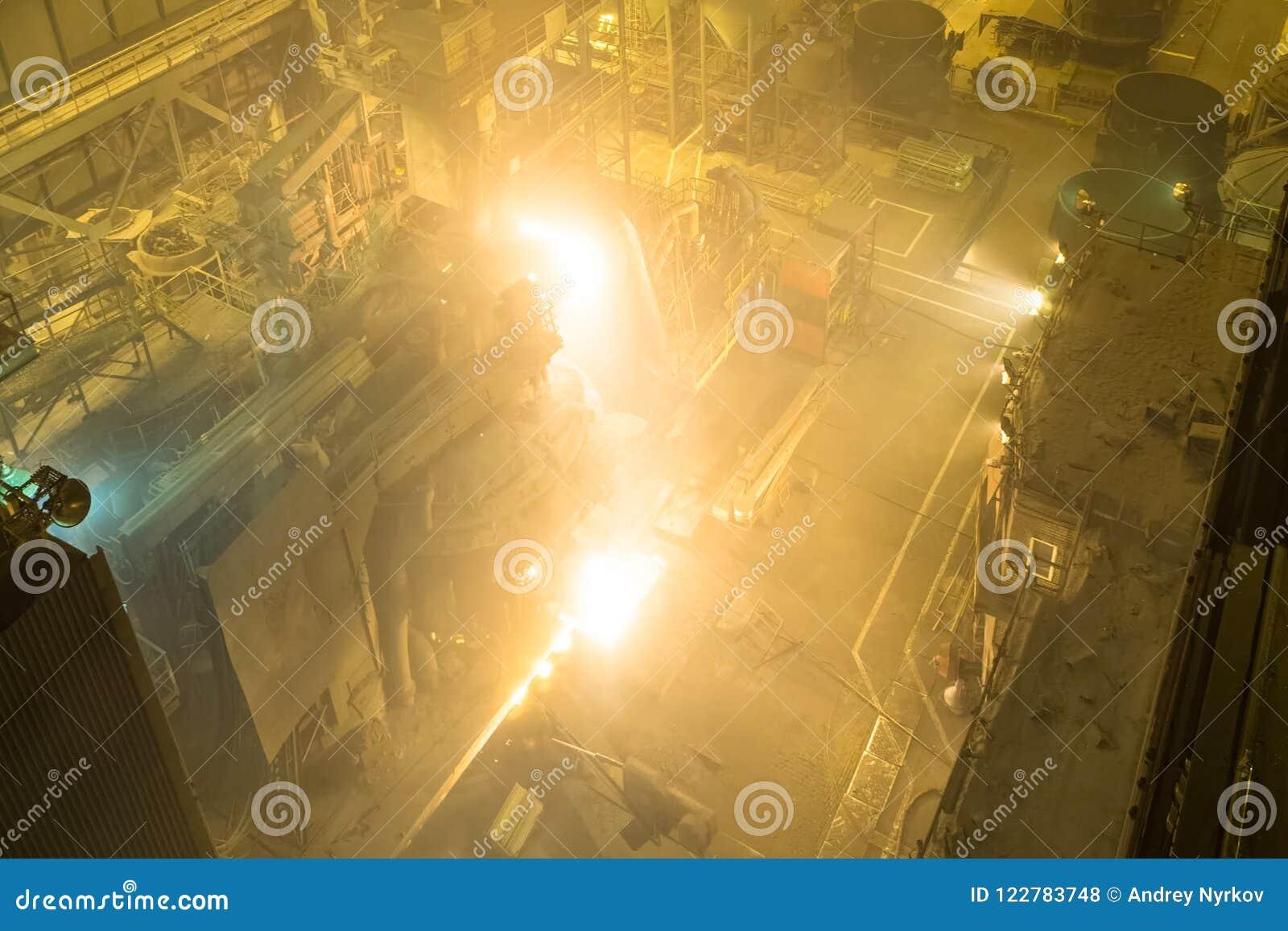Four d arc électrique Usine de fonte en acier