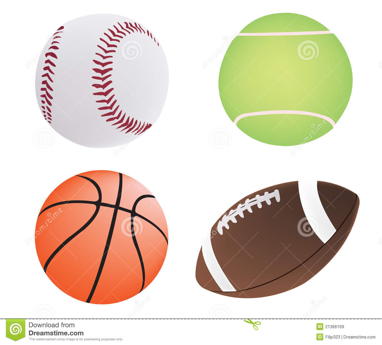 Four Different Ball Royalty Free Stock Images - Image: 21366169