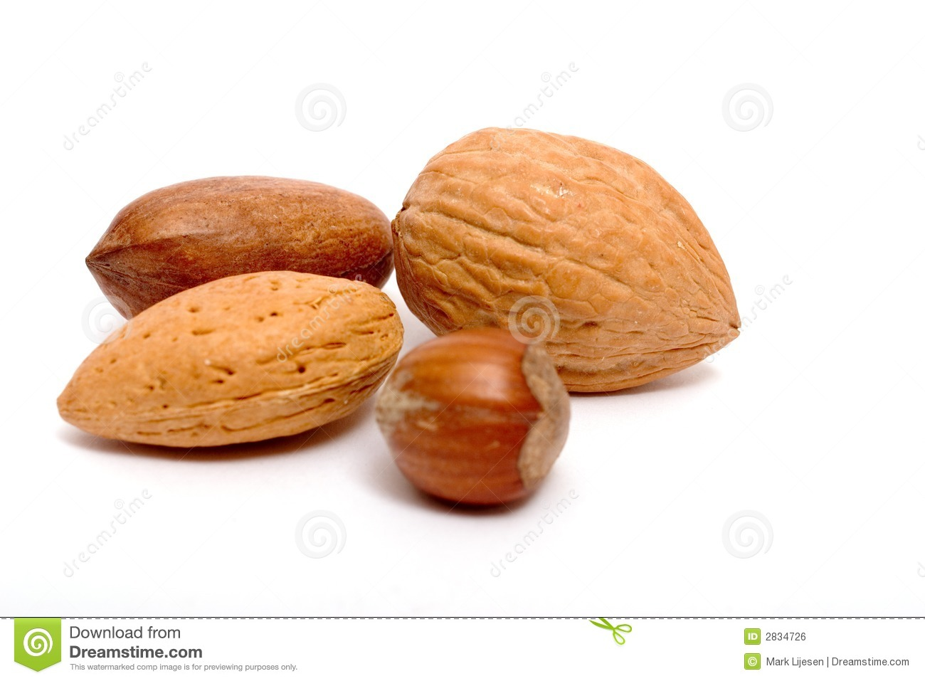Four Different Nuts Royalty Free Stock Image Image 2834726